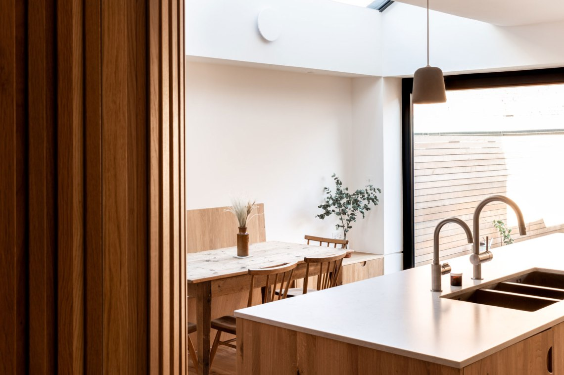 Kitchen-Renovation-Crouch-End-Oak-Battens-Bulkhead-Banquette